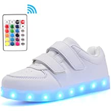 Voovix Kids Low-Top Led Light Up Shoes con Control Remoto Zapatos con Luces Para Niños y Niñas
