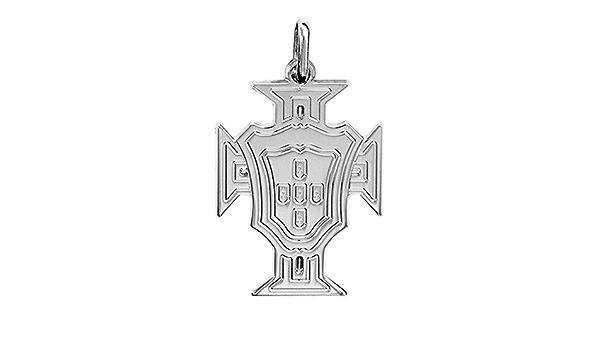 Christusorden Sterling-Silber 925 2/g. rhodiniert Kette inkl Helios Bijoux Anh/änger Kreuz von Portugal 50 cm