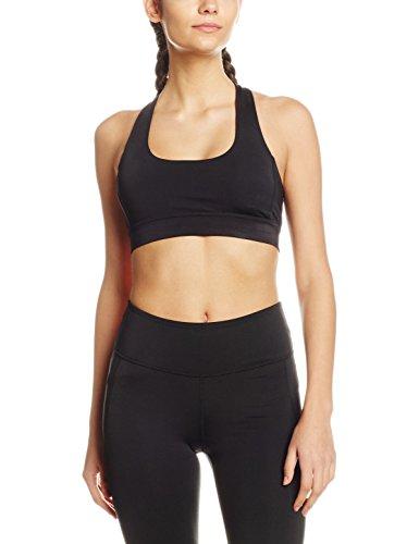 Intimuse Damen Sport Yoga Top mit Polsterung, Schwarz (Schwarz 001), 44 (Herstellergröße: XXL)