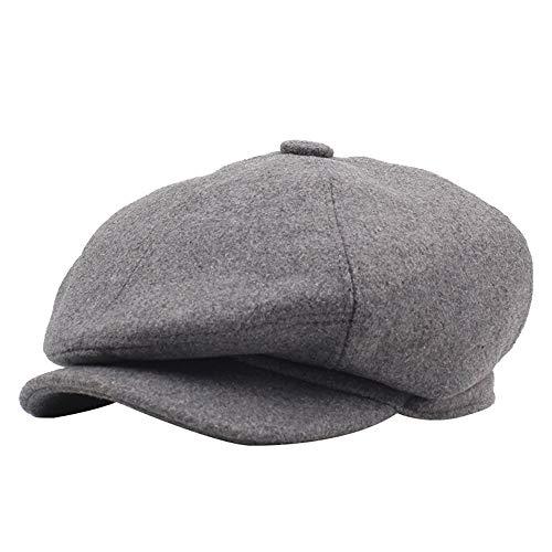 Aszhdfihas Der Baretthut der Frauen Männer und Frauen Berets Herbst und Winter warme Mütze alte Hut Cap Damen Mädchen ()