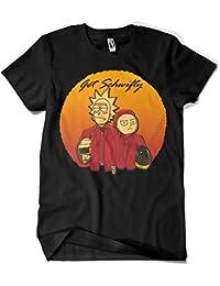 Camiseta Rick y Morty Get Schwifty Daft Punk