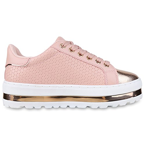 napoli-fashion , Sneakers Basses femme Rosa Gold