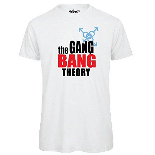 KiarenzaFD Camiseta Camiseta Big Parodia Gang Bang Theory Streetwear Shirts, TSBS_00008-XXL-Bianco, Bianco, XX-Large