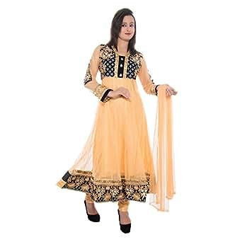 J M Luxury Womens Net Stone Work Anarkali Salwar Suit Set 768611604