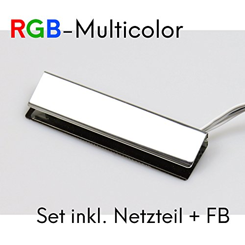 LED RGB Glaskantenbeleuchtung Glasbodenbeleuchtung Vitrinenbeleuchtung Clip Glas, Auswahl:12er SET