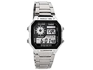 Casio Men's Collection Digital Watch with Stainless Steel Bracelet AE-1200WHD-1AVEF