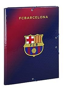 Futbol Club Barcelona- F.C Barcelona Carpeta Folio Gomas con 3 Solapas, Color Azul/Granito (SAFTA 511572068)