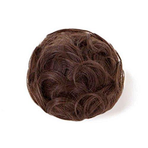 Xuanhemen Synthetische Haar Donut Messy Haarknoten Verlängerung Chignon Haarteil Perücke (Halloween Kostüme Für Frauen Über 50)