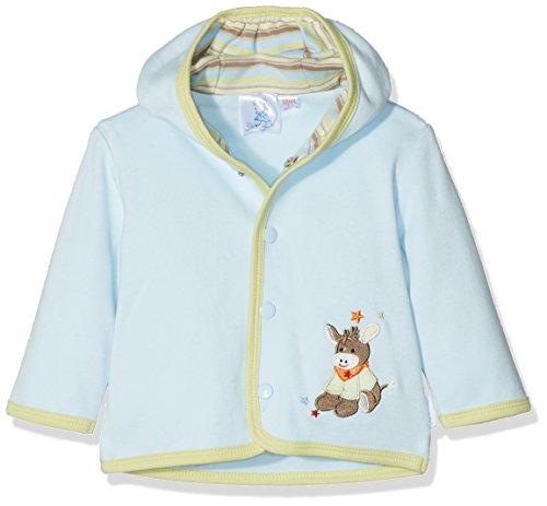 Sterntaler Kapuzen-Jacke Jersey Emmi für Babys, Alter: 3-4 Monate, Größe: 56, Blau - Jersey Kapuzen Jacke