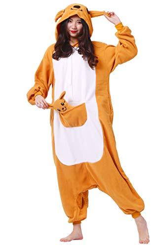 DATO Pyjama Tier Onesies Känguru Erwachsene Kigurumi Unisex -