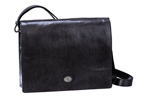 The Bridge Today Business borsa a tracolla pelle 36 cm Nero