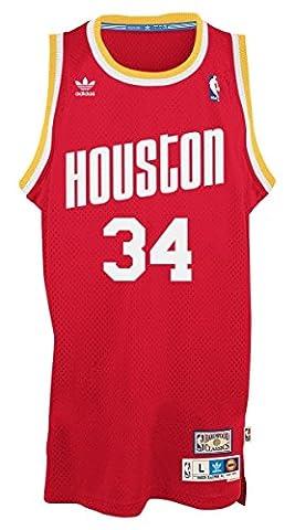 Hakeem Olajuwon Houston Rockets Adidas NBA Throwback Swingman Jersey -