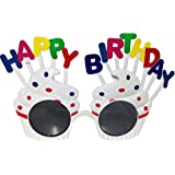 Funcart Funcart White Cup Cake Letter Happy Birthday Sunglasses