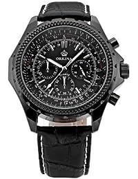 ORKINA YI-WAC14-03-023 - Reloj para hombres, correa de cuero color negro