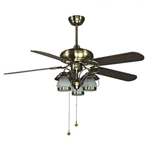 Kronleuchter mit Ventilator Licht 52-Zoll-Kronleuchter, Wohnzimmer Schlafzimmer Deckenbeleuchtung, leiser Energiesparventilator