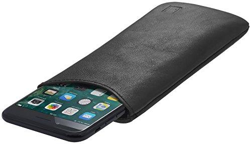 StilGut Pouch, Universal-Hülle aus feinstem Nappaleder | Sleeve Handyhülle Größe L für z.B. Samsung Galaxy S7, Huawei Honor P9 Lite, Samsung S6 Edge, OnePlus X u.a, Schwarz Nappa