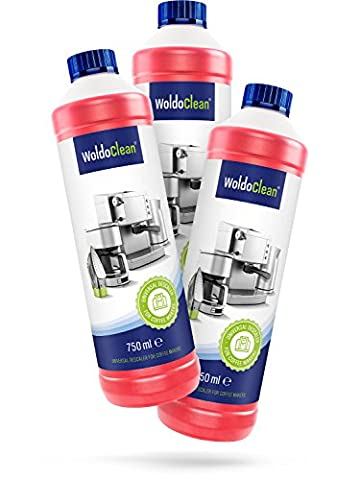 WoldoClean Coffee Machine Descaler and Cleaner 3x 750ml