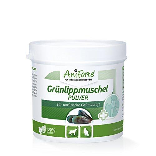 AniForte Grünlippmuschel-Pulver 100 g - versch. Größen - Naturprodukt für Hunde und Katzen