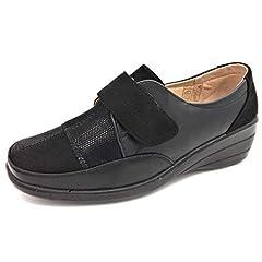 4e1dfacfa7c2 Shoe Tree Womens Ladies Comfort Veronica Wedge Heel Smart Cas .