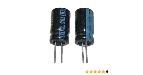 Elko Elektrolytkondensator Kondensator 10uf 450v 105 C 2 Stück 0066 Spielzeug