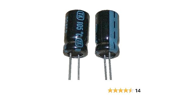 10x Elko Kondensator Radial 470µF 35V 105°C RJF-35V471MH5GY-T2 d10x20mm 470uF
