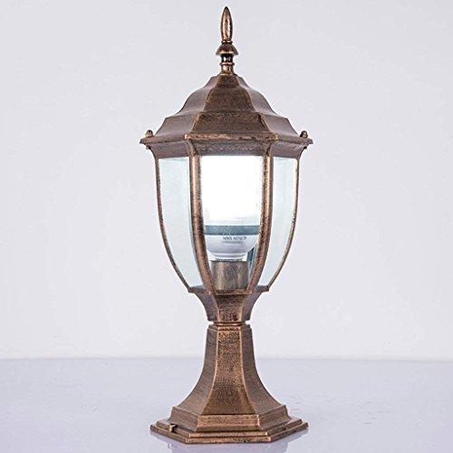 DEE Post Lichter, Traditionelle Schwarz, Bronze Farbe Ip68 Outdoor Garten Lampe Post Laterne Licht, nordischen Stil,Bronzefarbe (30 Traditionelle Post)