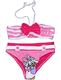Daisy Disney Duck Official Girls Swimsuit 2 Pieces Age 4/8 Years