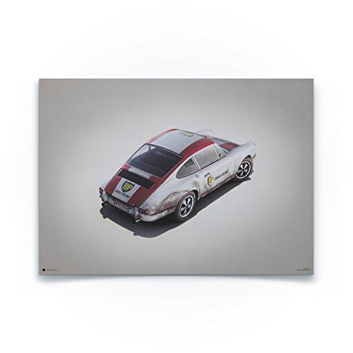 Automobilist Porsche 911R - Einzigartiges Design, Poster - Grau - Standard Poster Format 50 x 70 cm