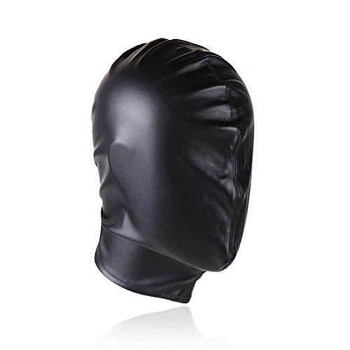 cosy-l Isolationsmaske Sklaven Maske Multifunktionen Gesichtsmaske Maskerade Maske Halloween Kostüme Venezianischen Partei Maske Handgemacht Bondage Leder Kopf Maske gepolstert SM Sex Spielzeug