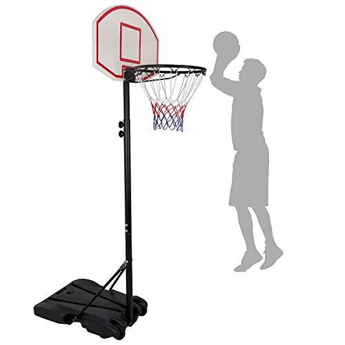 Nova Microdermabrasion Portable Basketball Hoop Stand Backboard System Adjustable-Height W/Wheels 5+ Years Kids Goal Indoor Outdoor 6.9ft (Black)