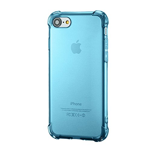 iPhone 8 Silikon Hülle ,iPhone 7 hülle, Apple iPhone 8 Silikon Abdeckung Stoß- Dünn Glanz Gel Stoßstange Flexibel und Weich Apple iPhone 7 &iPhone 8 4,7 TPU Hellblau Blau shockproof