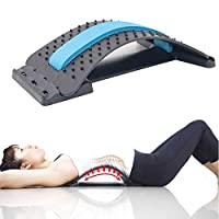 MOGOI Lumbar Stretcher, Multi-Level Back Massager Lumbar Support Stretcher Spinal Pain Relieve Back Pain Muscle Pain Relief for Office Chair