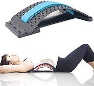 MOGOI Lumbar Stretcher, Multi-Level Back Massager Lumbar Support Stretcher Spinal Pain Relieve Back Pain Muscl