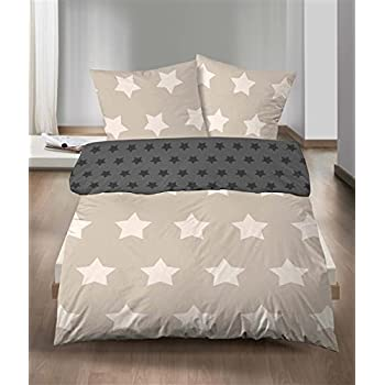 Castell Biber Bettwäsche Wende 2 teilig Bettbezug 155 x