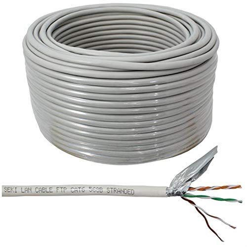 Utp Solid Ethernet-kabel (Netzwerkkabel CAT.5e 50m ; F/UTP ; CAT5e LAN Ethernet Kabel CAT5 Patchkabel (Patchkabel 50m, CAT6))