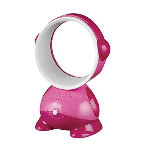 sunnymi USB Desktop Fan Bladeless Tischventilatoren Luftgebläse Ventilator Kühlblättrige Tischgeräte Moving Flow Cooler Mechanischer Lüfter Geräuscharm (Pink)