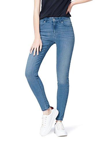 Find jeans skinny a vita alta donna, blu (light blue), w26/l32 (taglia produttore: x-small)