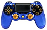 GM Master MOD Blau Chrom & Gold PS4 Modding Controller Mod Custom Rapid Fire, Drop Shot, Quickscope Cod Black Ops 3, Infinite Warfare, MW Schon, 2. Weltkrieg