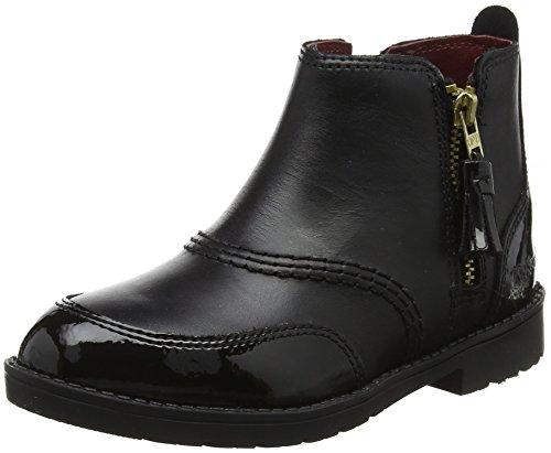 Kickers Girls' Lachly Zip Lthr If Boots, Black (Black), 11 UK 29...