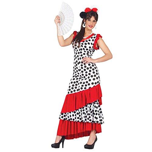 Faschingskostüm Spanierin Flamencokleid Carmen L 42/44 Damenkostüm Seniorita Spanien Kostüm Spanische Tänzerin Frauenkostüm Karneval Carmenkleid Flamenco