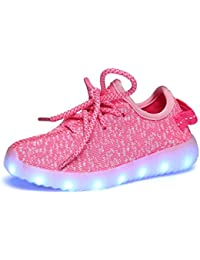 Feicuan Child USB Carga LED Intermitente Zapatos con Luces