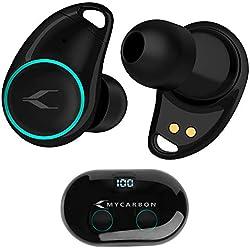 MYCARBON V5.0 Ecouteur Bluetooth sans Fil Oreillette Bluetooth Autonomie 6h Max Casque Intra-auriculaire pour iPhone Samsung Huawei Xiaomi Sony