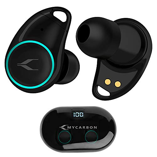 MYCARBON Auricolari Bluetooth Senza Fili Sport 5.0 Cuffie Wireless Impermeabili IPX5 Magnetici 5h Riproduzione Custodia con LED Display Cuffie Bluetooth in Ear per iPhone Samsung Huawei Xiaomi Sony
