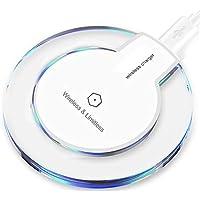Hunpta@ Wireless Charger für iPhone XS/XS Max/XR, Tragbare ultradünne Acryl Clear Qi Wireless Ladegerät Lade Pad