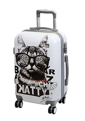 A2S Cabin gepäck ist leicht und langleib Hard shell Koffer mit 8 spiner räder tasche ( Flugzeuge) Katze mit Sonnenbrille 55x35x20 cm.