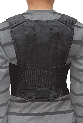 TOROS-GROUP Geradehalter Haltungskorrektur schulter für Kindern- Medium - Schwarz (Bandage Black Cotton)