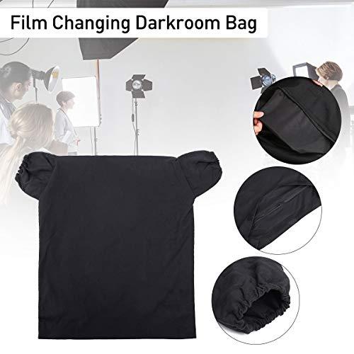 Essort Dunkelkammer-Tasche für Filmwechsel, Entwicklung von Fotos, tragbar, schwarz, Filmschutz, 60 cm x 55 cm