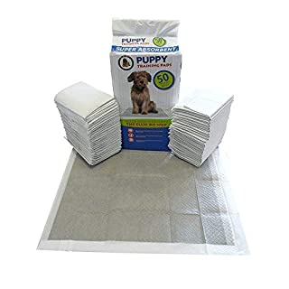 50 x Super Absorbent Puppy Training Pads with Active Charcoal and Super Absorbent Polymer Technology