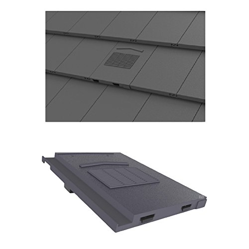 Grey Marley Modern / Mini Stonewold Profile Roof Vent Tile & Pipe Adaptor by Manthorpe
