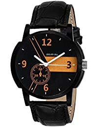 Golden Bell Original Multicolour Dial Black Strap Analog Wrist Watch For Men - GB-931